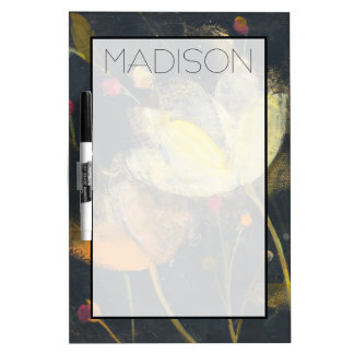 Add Your Name | Moonlight Garden on Black Dry-Erase Board