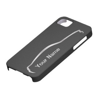 """""""add your name"""" Mustang Gray Silhouette Logo iPhone 5 Cover"""