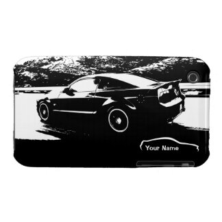 """add your name"" Mustang Rolling shot iPhone 3 Case"