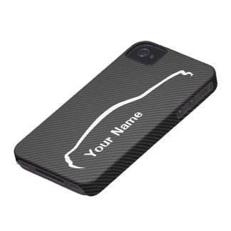 """""""add your name"""" Mustang White Silhouette Logo iPhone 4 Case"""