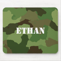 Add Your Name on Camouflage Mouse Pad
