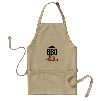 Add your name personalized BBQ King Adult Apron