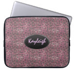 Add Your Name Pink Designer Laptop Sleeve