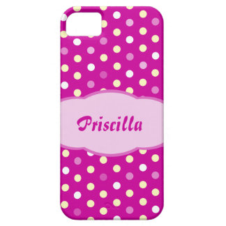 Add your name polka dot purple iphone5 case