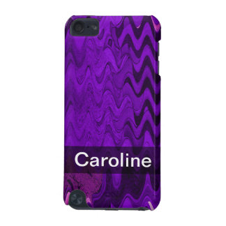 Add your Name purple black wave iPod Touch (5th Generation) Cover