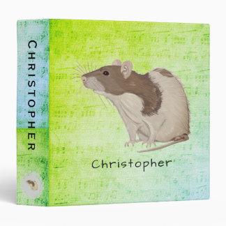 Add Your Name Rat Design 3 Ring Binder