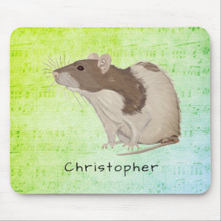 Add Your Name Rat Design Mouse Pad