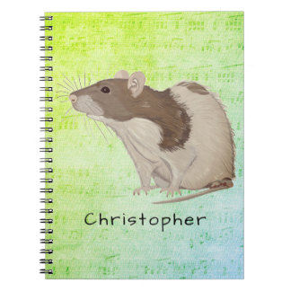 Add Your Name Rat Design Notebook
