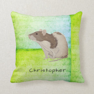 Add Your Name Rat Design Throw Pillow