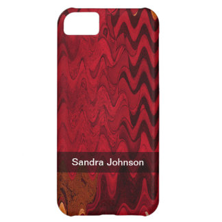 Add Your Name Red Black Wave iPhone 5C Case