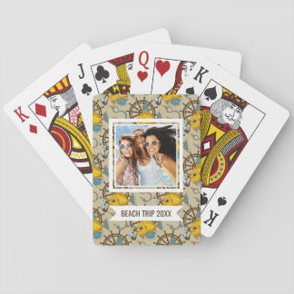 Add Your Name | Sea Captain Fish Pattern Playing Cards