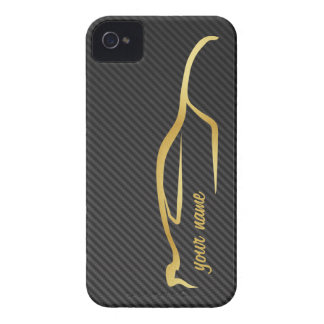 """add your name"" Skyline Gold Silhouette Logo iPhone 4 Case"