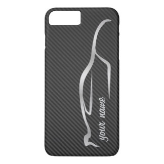 """""""add your name"""" Skyline Silver Silhouette Logo iPhone 7 Plus Case"""