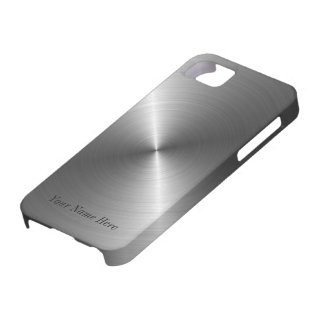 Add Your Name Steel Metal Look iPhone 5 Case
