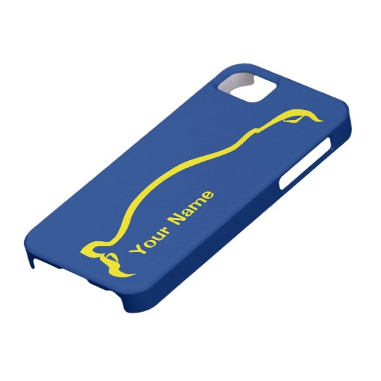 """""""add your name"""" STI  Blue / Yellow Silhouette iPhone SE/5/5s Case"""