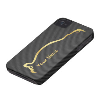 """add your name"" STI Impreza Gold Silhouette iPhone 4 Cover"