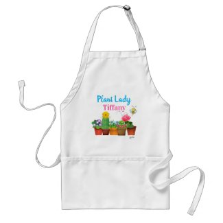 Add Your Name to Plant Lady / Garden Style Adult Apron