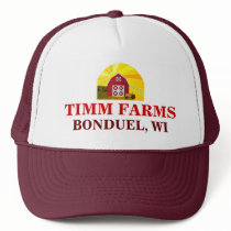 Add Your Name to Red Barn Big Sun Sky Farmer's Hat