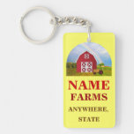 Add Your Name to Red Barn with Blue Sky Acrylic Key Chain