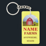 "Add Your Name to Red Barn with Blue Sky Keychain<br><div class=""desc"">Add your farm name and location to this hat to give it the unique customized look. The text and even the photo are customizable to where you can delete or change them. Click on &#39;Customize it!&#39; Then to the right of that, click on &#39;Change image&#39; if you would like to...</div>"
