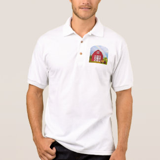 Add Your Name to Red Barn with Blue Sky Polo T-shirt