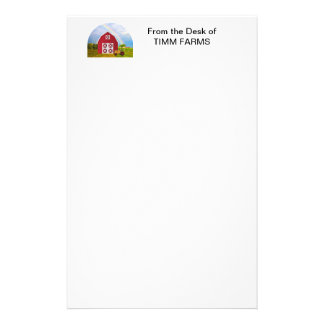 Add Your Name to Red Barn with Blue Sky Stationery