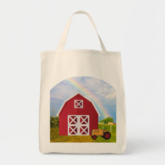 Add Your Name to Red Barn with Blue Sky Tote Bag