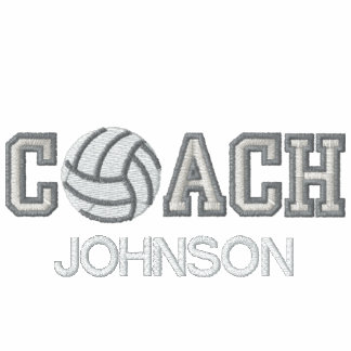 Add your name - Volleyball Coach Embroidered Hoodies