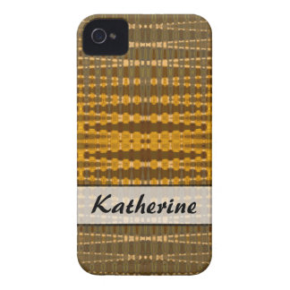 Add your Name yellow khaki pattern iPhone 4 Case