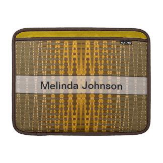 Add your Name yellow khaki pattern MacBook Air Sleeve