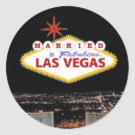 ADD your names! Married in Las Vegas Sticker