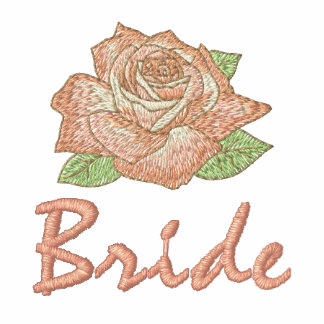 Add Your Names Pink Rose Bride T-shirt