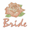 Add Your Names Pink Rose Bride T-shirt embroideredshirt