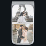 """Add Your Own - 2 Photo Gallery Personalized Silver Finish Money Clip<br><div class=""""desc"""">Add Your Own - 2 Photo Gallery Personalized design.</div>"""