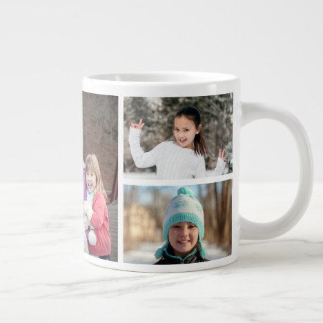 Add Your Own 5 Photo Collage Coffee Mug