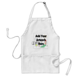 Add your own Artwork or Kid's Artwork for gifts Adult Apron