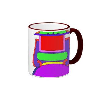 Add your own caption label mug