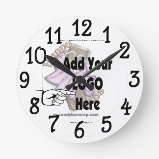 Add your own Company Logo Wall Clock