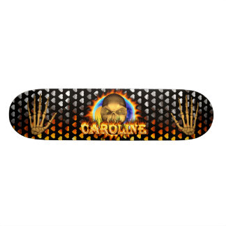 Add your own custom text and images to this skull skateboard deck