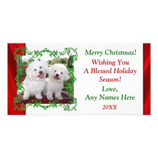Add Your Own Cute Photo Christmas Holiday Card