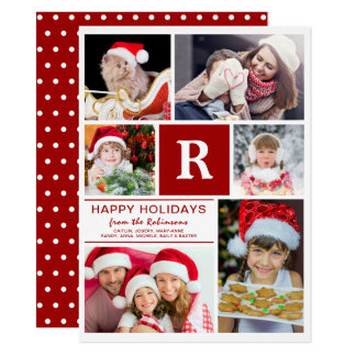 Add Your Own Family Photos DYI Christmas Card