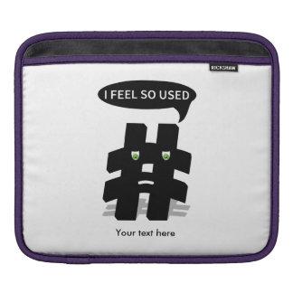 Add Your Own Funny Hashtag iPad Sleeve