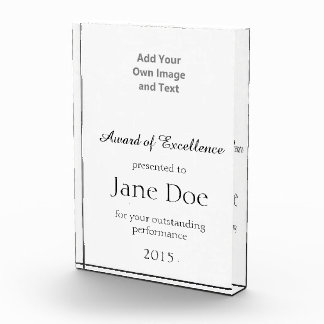 Add Your Own Image And Text Acrylic Award