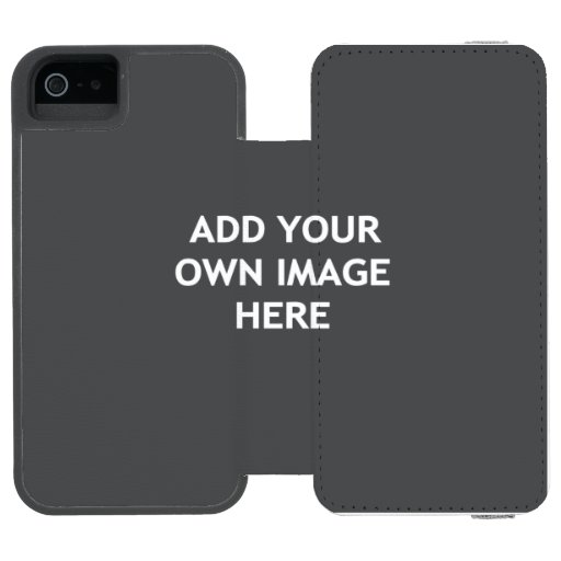 Add your own image iPhone SE/5/5s wallet case