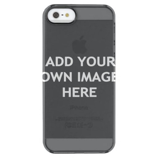 Add your own image clear iPhone SE/5/5s case