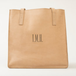 Add your own initials - Ubuntu Leather Tote