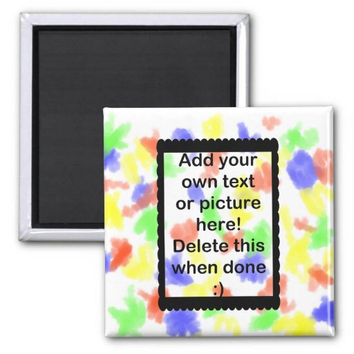 Add Your Own logo 2 Inch Square Magnet