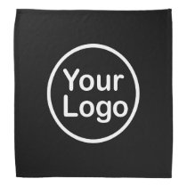 Add Your Own Logo | Black Background Bandana