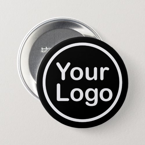 Add Your Own Logo  Black Background Button
