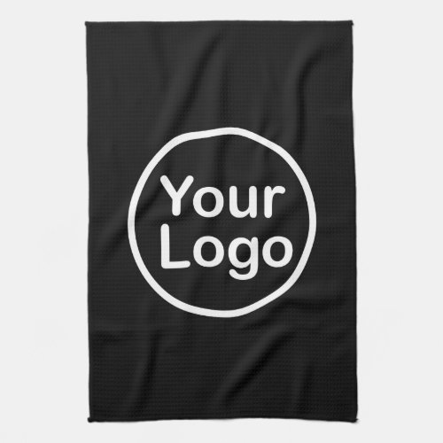 Add Your Own Logo  Black Background Hand Towel